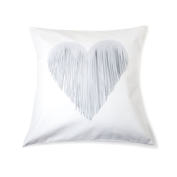 Fringe Heart - white