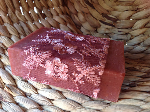 lavender red soap. moisturising