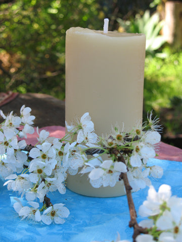 beeswax large pillar candle