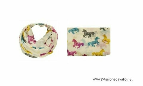 Foulard -Colorful horse- 100% poliestere.