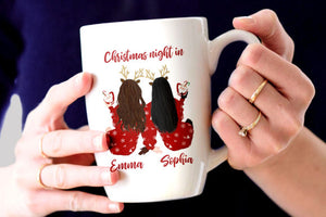 Personalised Christmas illustrations Best Friends, Family