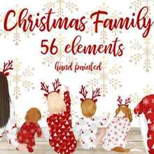 Load image into Gallery viewer, Christmas Family Best Friend Illustrations, Drawing, People, Print