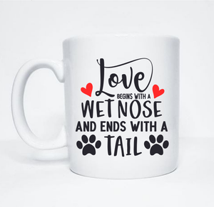 Personalised Love Begins With A Wet Nose