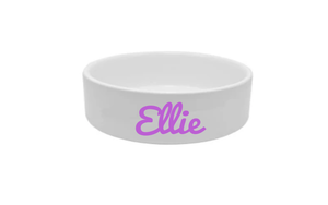Personalised Printed Name Food and Water Cermai Bowls
