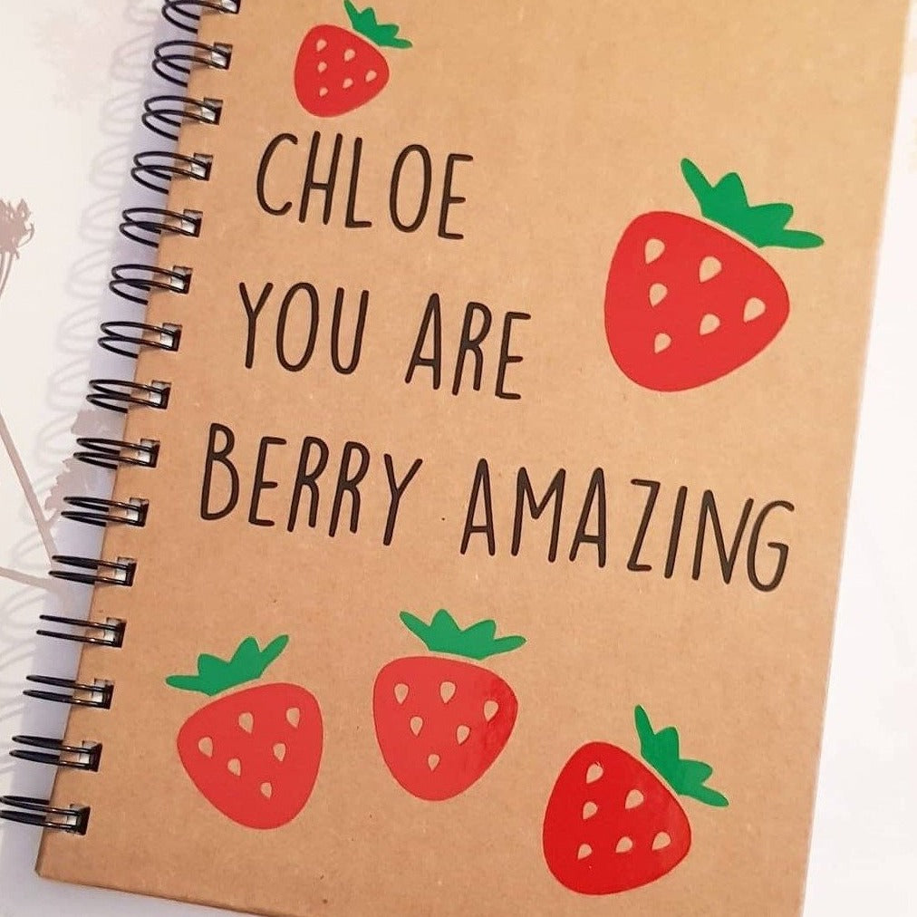 Personalised Kraft Spiral Notebook A5