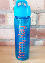 Load image into Gallery viewer, Blue Personalised Water Bottle