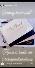 Load image into Gallery viewer, Personalised Bride Boutique Clutch Bag