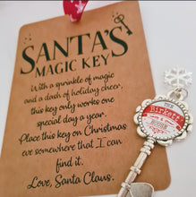 Load image into Gallery viewer, Personalised Santa Key