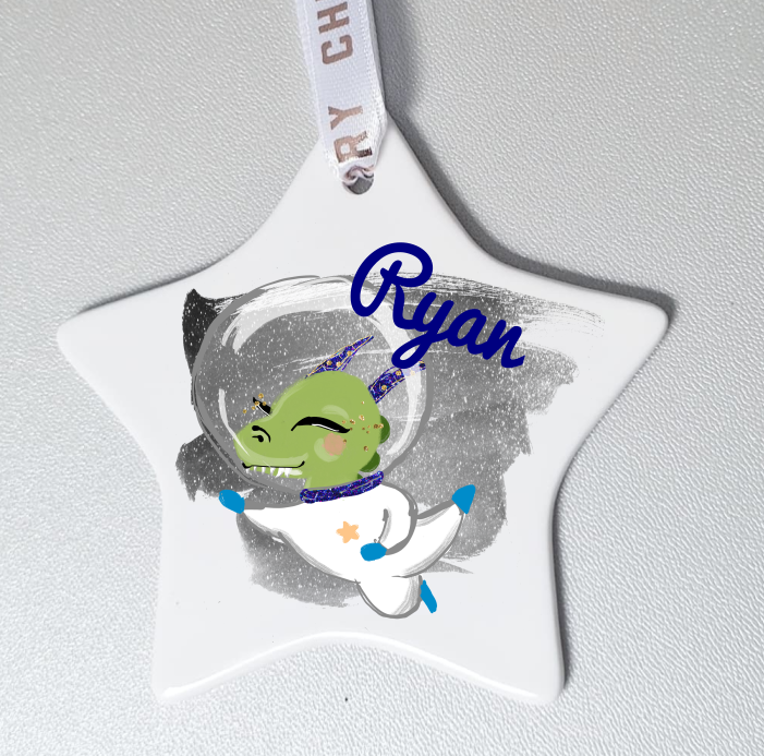 Personalised Space Themed Hanging Ornament