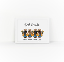 Load image into Gallery viewer, Personalised Friends Sunflower Illustrations Print