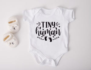 Tiny Human Baby Vest and Grow
