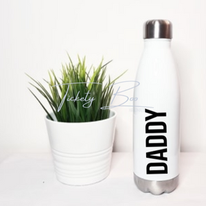 Fathers Day Personalised Daddy White Stainless Steel Water Bottle