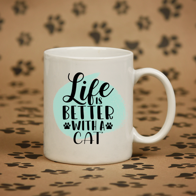 Personalised Life Is Better With A Cat Mug