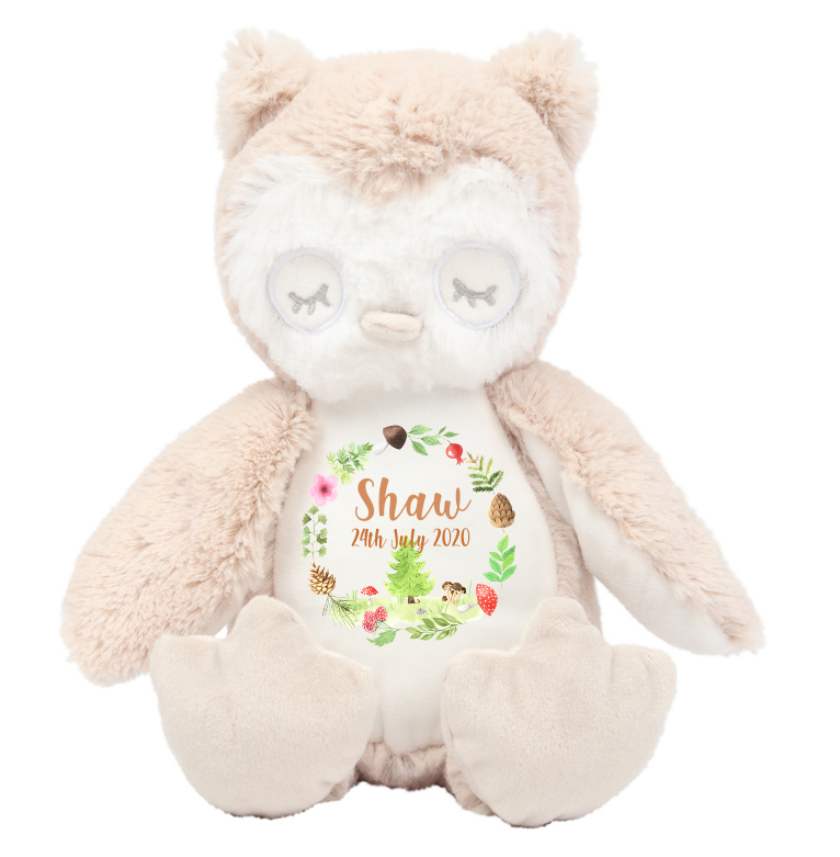 Owl Personalised teddies