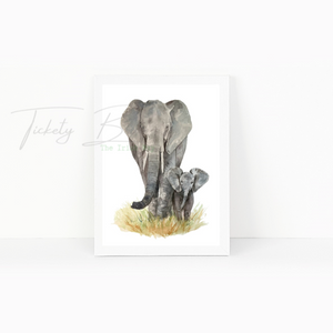 Elephant Print Nursery and House Print
