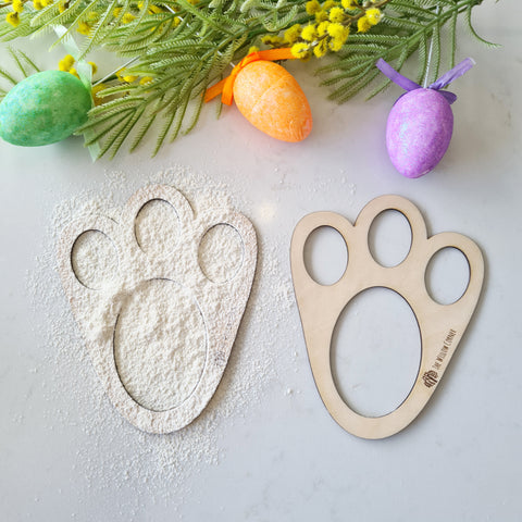 Easter Bunny Footprint Stencil - Easter Gift