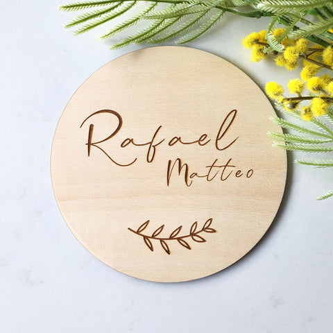 Ash Leaf - Personalised Wooden Name Plaque