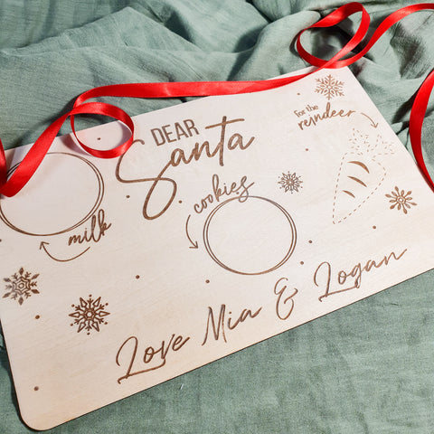 Personalised Wooden Santa Tray 🎅