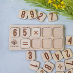 Wood Numbers - Educational Math Board Game