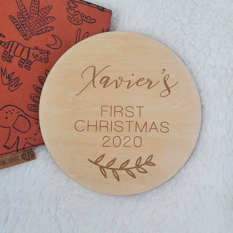Personalised First Christmas - Milestone Disc