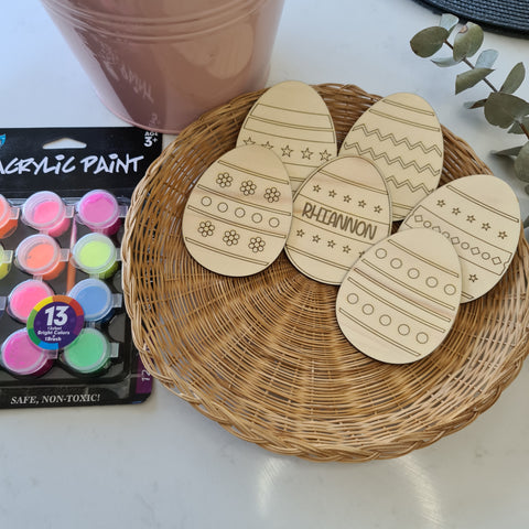Paint-Your-Own Easter Egg Craft Pack #2 - Personalised