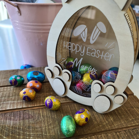 Personalised Fillable Easter Chocolate Box