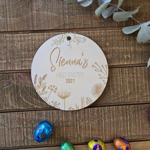 My First Easter Disc - Easter Milestone Personalised