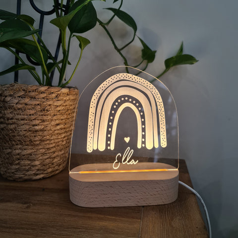 Personalised Night Light 🌙 - Boho Rainbow