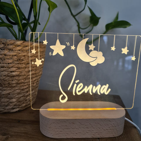 Personalised Night Light 🌙 - Hanging Stars