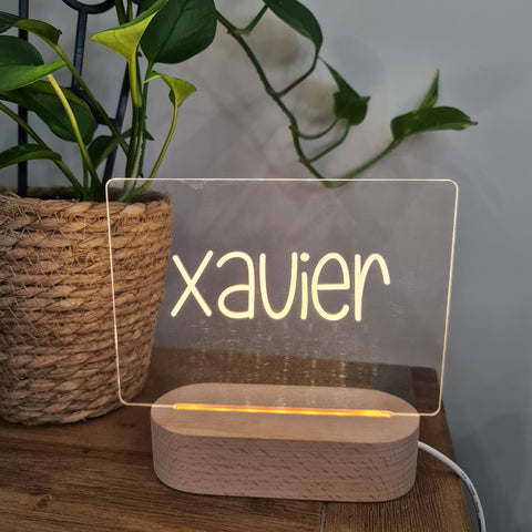 Personalised Night Light 🌙 - Fun Handwritten Name