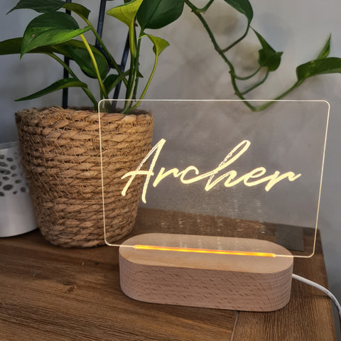 Personalised Night Light 🌙 - Brush Wash Name