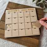 Wooden Memory Puzzle - Animals 🐨