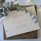 Personalised Wooden Guest Book - Front and Back Boards (WS)