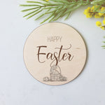 Happy Easter - Large Prop Disc Plaque