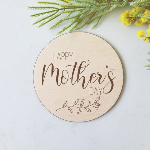 Happy Mother's Day - Large Prop Disc Plaque