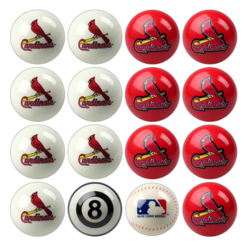 ST. LOUIS CARDINALS HOME VS. AWAY BILLIARD BALL SET