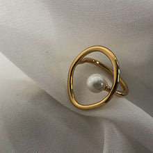 Load image into Gallery viewer, Moonlight Pearl Ring-Adjustable ring