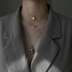 Ins style Coin necklece