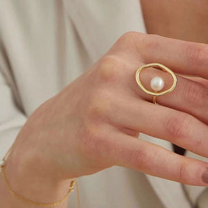 Moonlight Pearl Ring-Adjustable ring