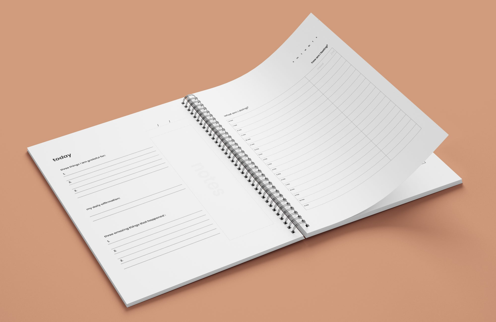 Take Note Wellness Journals help you gain clarity into how your habits, behaviour and your mood all relate to each other, designed using principles of CBT.