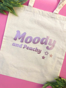 Moody & Peachy Tote Bag