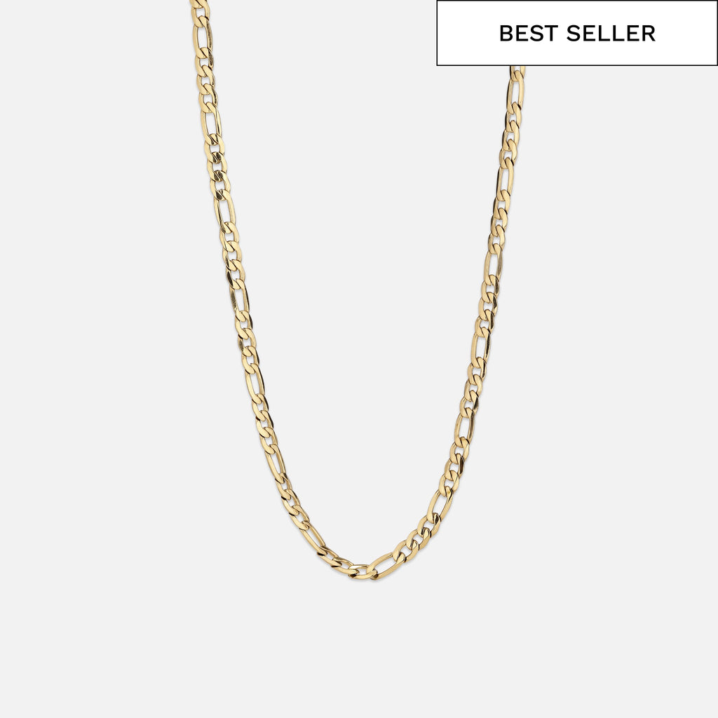North North North 14k gold plated Necklace | Arnold | Figaro Chain Necklace Gold