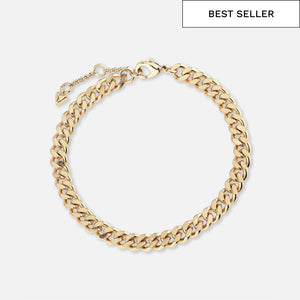 North North North 14k gold plated curb chain bracelet | Thy Bracelet Gold