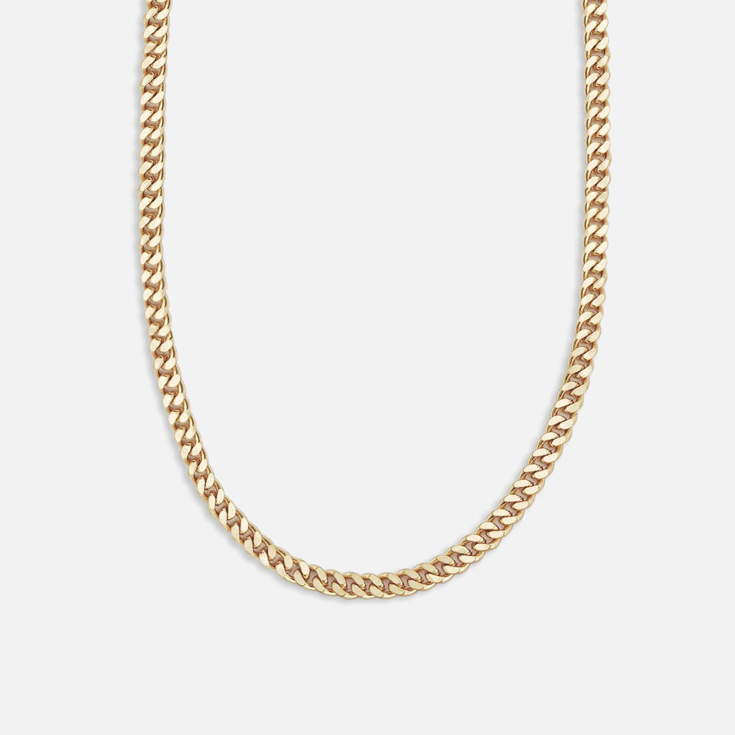 North North North 14k gold plated curb chain necklace | Kurt Necklace Gold