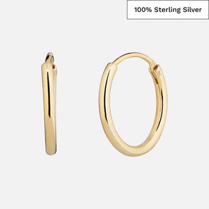 North North North 14k gold plated hoop earrings | Randi Earring Gold