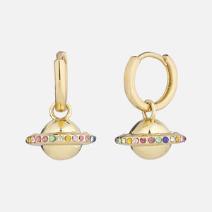 North North North 14k gold plated huggie hoop gold earrings | Susanne-Ursula Earring Gold