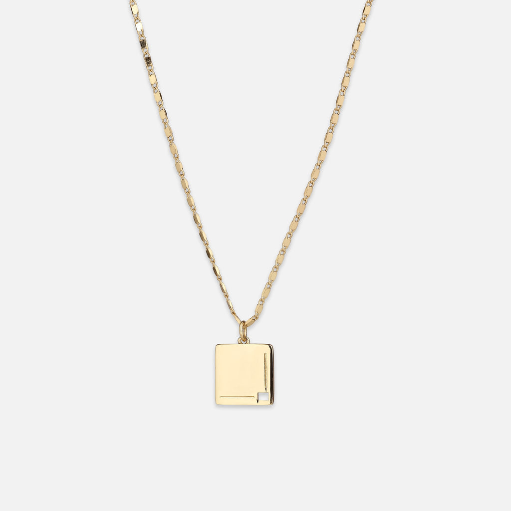 North North North 14k gold plated necklace | Bob Necklace Gold