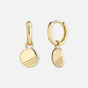 North North North 14k gold plated pendant earrings | Susanne-Bodil Earring Gold