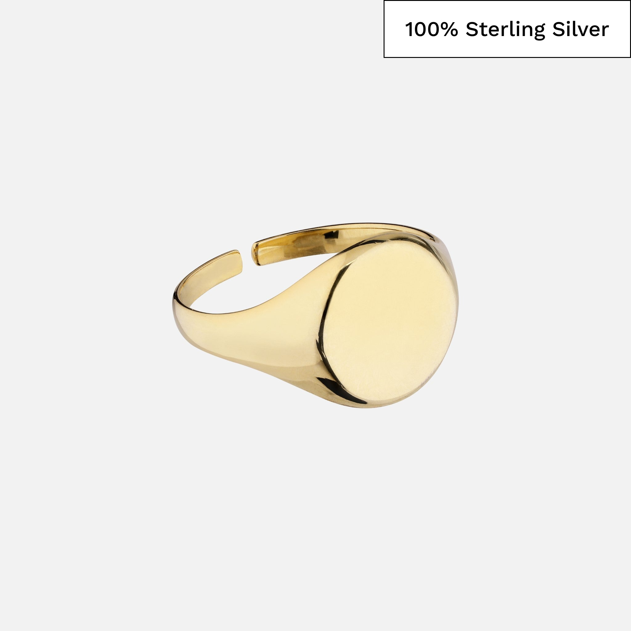 North North North 14k gold plated signet ring in 100% sterling silver | Clausen Ring Gold