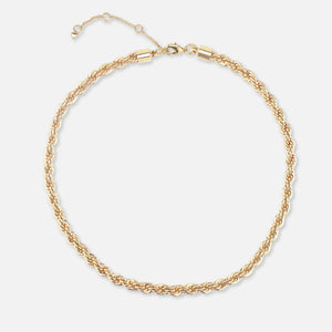 North North North 14k gold plated twisted rope necklace | Knud Necklace Gold